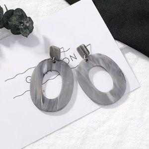 ARRIVED 🎉 Gray Oval Marble Dangle Earrings